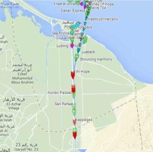 """Fregatte """"LÜBECK"""" im Suez-Kanal"""