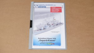 Modellbaubogen Schnellboot Klasse 143A